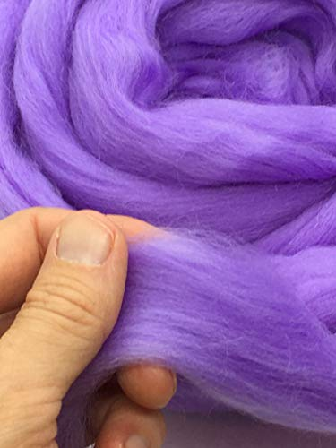 Periwinkle Merino Wool Top Roving Fiber Spinning, Felting Crafts USA (4 pounds) by Shep's Wool (Image #2)