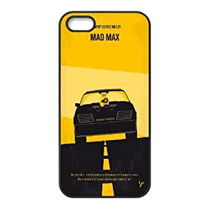 Doah No051 my Mad Max 1 Minimal Movie Poster Case for IPhone 5,5S, with Black BY BYC DESIGNS