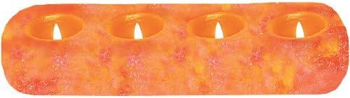 WBM 3005 Natural Air Purifying Himalayan Natural Crystal Salt 4 Holes Tealight Candle Holder