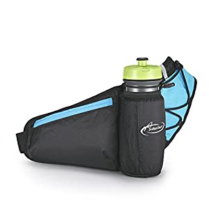 AiRunTech Hydration Running Belt by AIHOLES Holds All iPhones Plus Accessories with Expandable Water Bottle Holder Fits Large Water Bottle (Bottle Not Included)