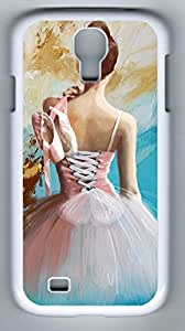Ballerina's Back Hard Cover Back Case For Samsung Galaxy S4,PC Fashion White Case for Samsung Galaxy S4