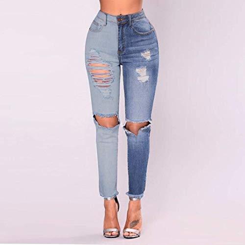 Distressed Strappati Libero Fashion Sottile Pants Trousers Blau Tempo Targogo Magnifico Denim Tendenza Jeans Donna Lunghi Estivi Abbigliamento Primaverile Fidanzato EZq4ZP