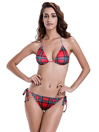 0593d67152be0 Reteron Women s Plus Size Scrunch Bottom Triangle Bikini Bathing Suits XL  Geo