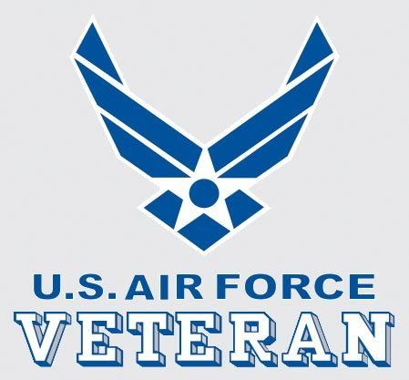 United States Air Force Veteran Logo Car Decal US Military Gifts USAF Products
