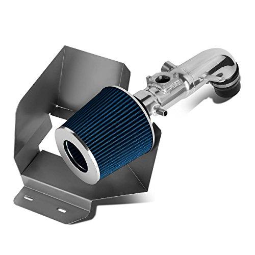 Toyota Camry 2.4L l4 Aluminum Cold Air Intake Pipe + Heat Shield + Blue (Big Maf Short Ram Intake)