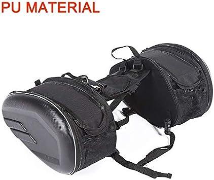 Casco de la motocicleta del bolso bolsas de viaje Maleta alforjas y el impermeable a prueba de agua Moto de carreras que compiten for KTM PIAGGIO motor Aprilia (Color Name : Pu material)