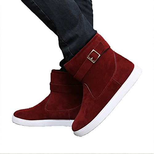 Men's Winter Comfort Cut Fur Non-slip High Cut Comfort Flat Snow Boots B077N84PV9 Shoes ae8db0