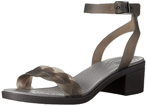 Crocs Isabella Block Heel, Tongs Femme Noir (Black / Graphite)