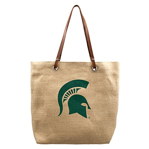 Tote Michigan State (NCAA Michigan State Spartans Burlap Market Tote)