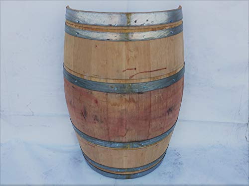 Real Half Wine Barrel Stand or Planter - Clean Oak for sale  Delivered anywhere in USA