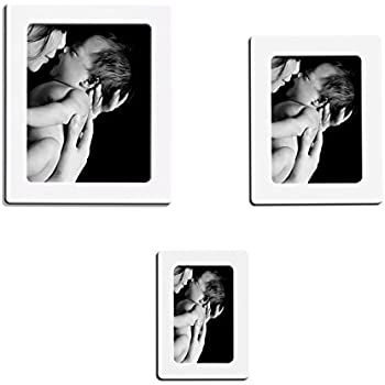 Lubber Magnetic Picture Frame for Refrigerator Magnets 4'' x 6'', 5'' x 7'', 2.5'' x 3.5'', White, By