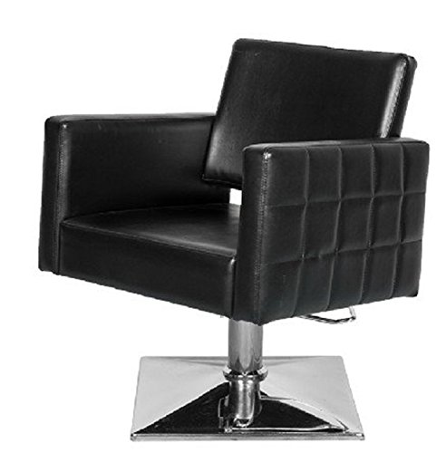 shengyu Classic Hydraulic Barber Chair Styling Salon Beauty (Square Base, Black)