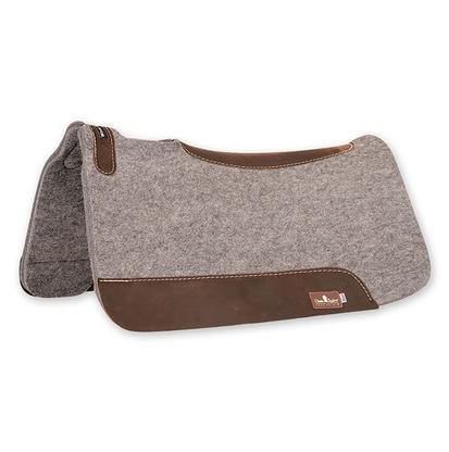 Classic Equine Gray Wool Felt Saddle Pad 31x32x1 (Pad Western Wool)
