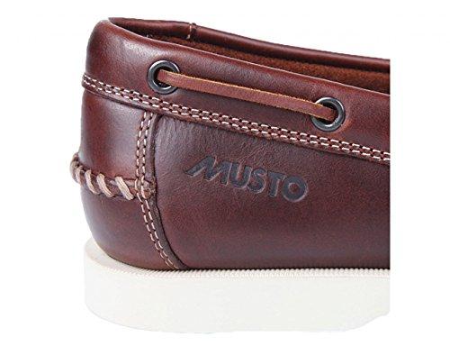 Musto Herren Bootsschuh Nautic Bay, Größe:40, Farbe:Dark Brown/Tobacco