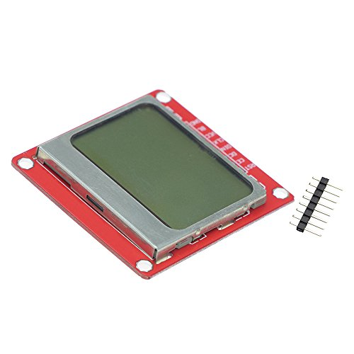 - NJPOWER 1pcs White Backlight 8448 84x84 LCD Display Module Adapter PCB for Nokia 5110 for arduino DIY KIT