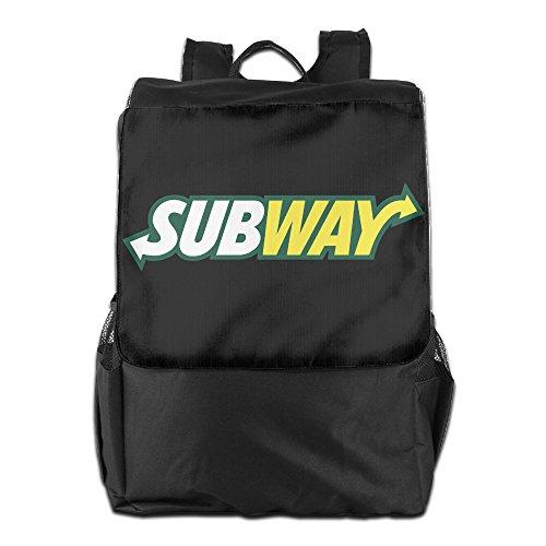 HALEIND Subway Logo Casual Fashion Backpack Shoulder Bag Black