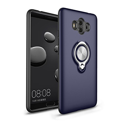 """Price comparison product image Huawei Mate 10 pro Case, SsHhUu Shockproof 360 Degree Rotatable Ring Kickstand Double Layer Protection Cover Shock-Absorption with Magnetic Car Mount Phone Case for Huawei Mate 10 pro 6.0"""" - Navy blue"""