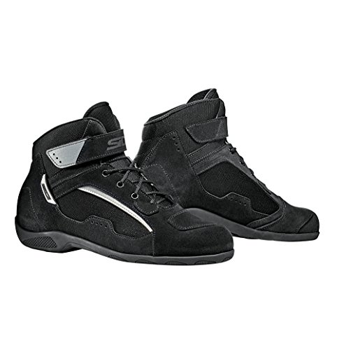 SIDI Scarpa Moto Modello Duna Nero Shoes Black Strada Turismo (46, Nero) Nero