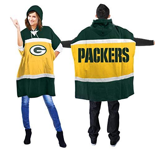NFL Green Bay Packers Hoodie Poncho - Nfl Team Snap