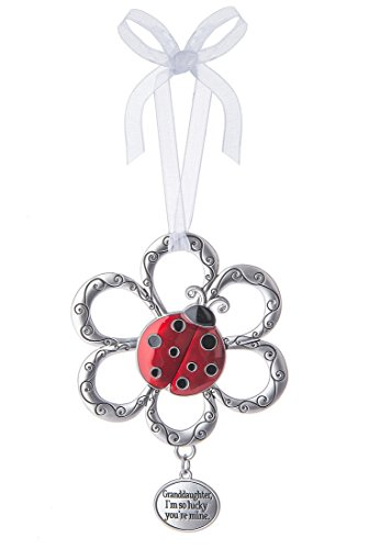 Granddaughter, I'm So Lucky You're Mine Ladybug Ornament - By Ganz