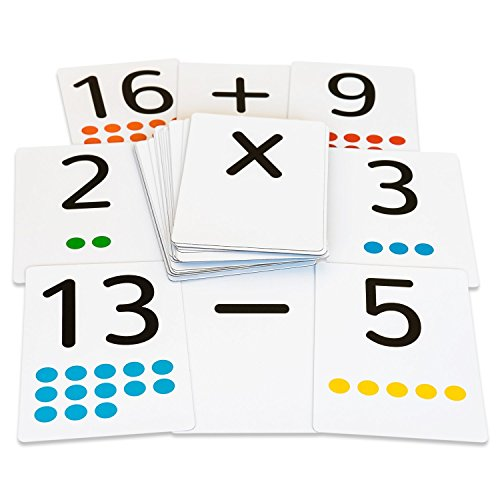 Magnetic Card Game - Magnetic Flash Cards - Large Numbers 0-25 with Math Symbols - Addition, Subtraction