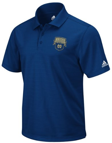 03764c6e8b785 NCAA adidas Notre Dame Fighting Irish 125th Football Anniversary Primary  Logo Performance Polo - Navy Blue