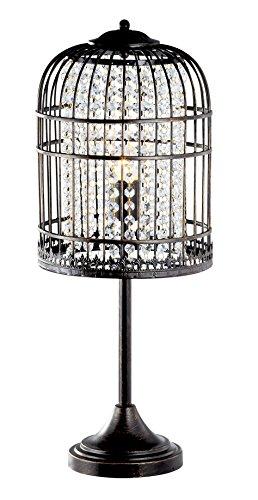 Acme Furniture 40110 Remik Table Lamp, Coffee/Brush Gold