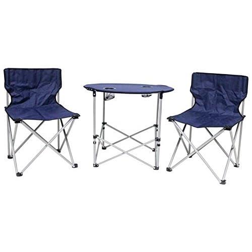 Table de camping pliable et 2chaises