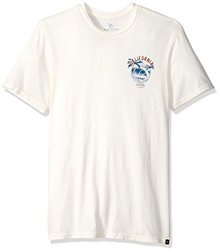 Rip Curl Men's Californication Heritage Tee, Off White/Off White, ()