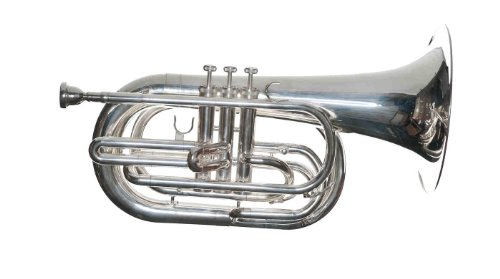 RS Berkeley MAR679-Siver Plated- Marching Baritone Horn by RS Berkeley