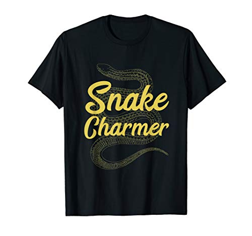 Snake Charmer T-Shirt Coiled Serpent Vintage Reptile -