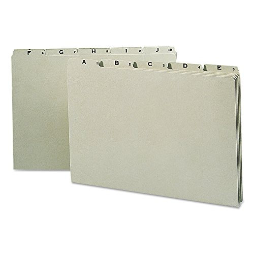 - Recycled Top Tab File Guides, Alpha, 1/5 Tab, Pressboard, Legal, 25/Set, Sold as 1 Set