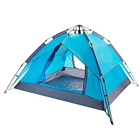 Ezyoutdoor Pop Up Tent Automatic & Instant Setup Lightweight 2-4 Person Portable Tent Pack for Hiking and Camping (Blue)