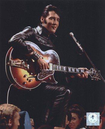 Elvis Presley Wearing Black Leather Jacket (#4) Photo Print (8 x 10)