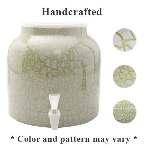 Bluewave Lifestyle Bluewave Marble Green Design Beverage Dispenser Crock,