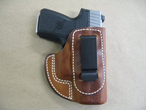 Kahr PM9, CM9, MK9 IWB Molded Leather Inside Waistband Concealed Carry Holster TAN RH