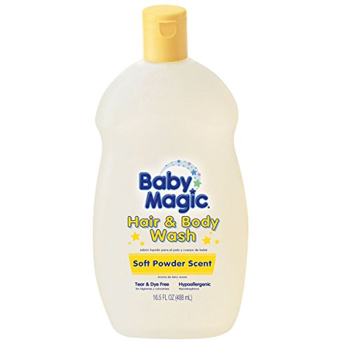 Baby Magic Hair And Body Wash 16.5 Ounce Soft Powder Scent (488ml) (2 Pack)