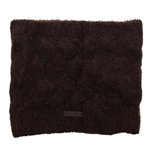 Coach 84059 Women's Braided Cable Knit Cowl Scarf Mohair Wool Blend (Brown Coach Scarf)