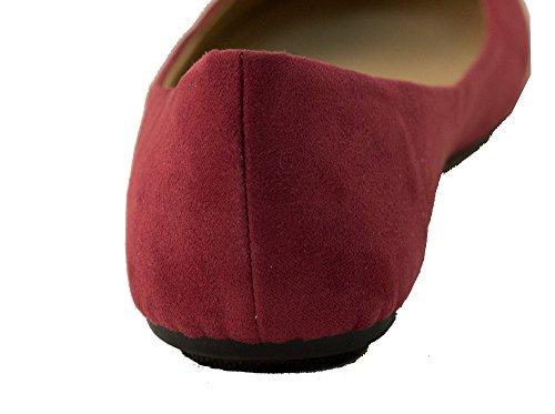 Kvinners Mikro Semsket Ballerinasko, 10 B (m) Oss, Rødbrun