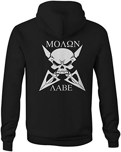 Molon Labe 'Til Death Crossbow- Skull Arrows Full Zip Sweatshirt - XL