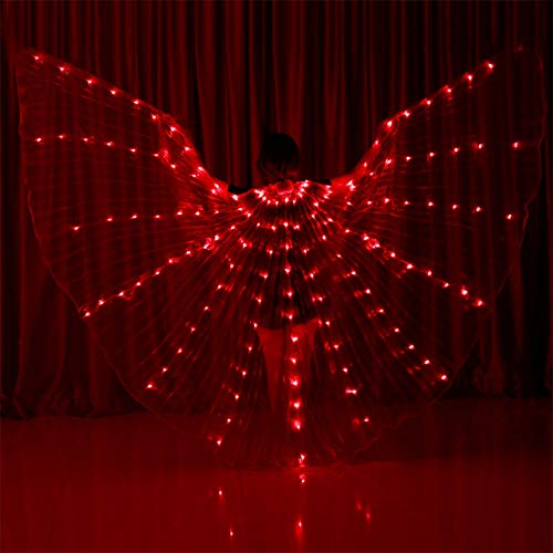 Jiecikou Belly Dance LED Angel Wings with