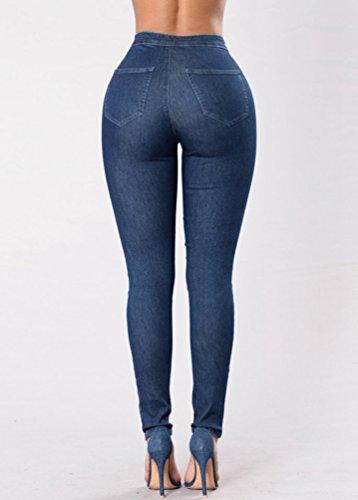 Fonc WanYang Jeans Taille Up Bleu Push Jeans Denim Stretch Pantalons Haute Femmes Slim Pantalon Skinny x6wqRYr6