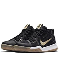 Kyrie 3 (GS) Youth Size Black/Gum/Light Brown Basketball Shoes