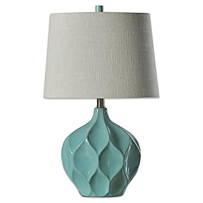 "Ceramic Table Lamp in Woodlawn with -3-way switch 60"" cord length"