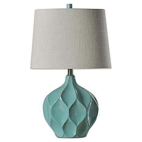 Ceramic Table Lamp In Woodlawn With 3 Way Switch 60 Cord Length
