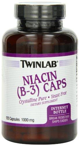 Twinlab niacine B-3 1000mg capsules, 120 comte