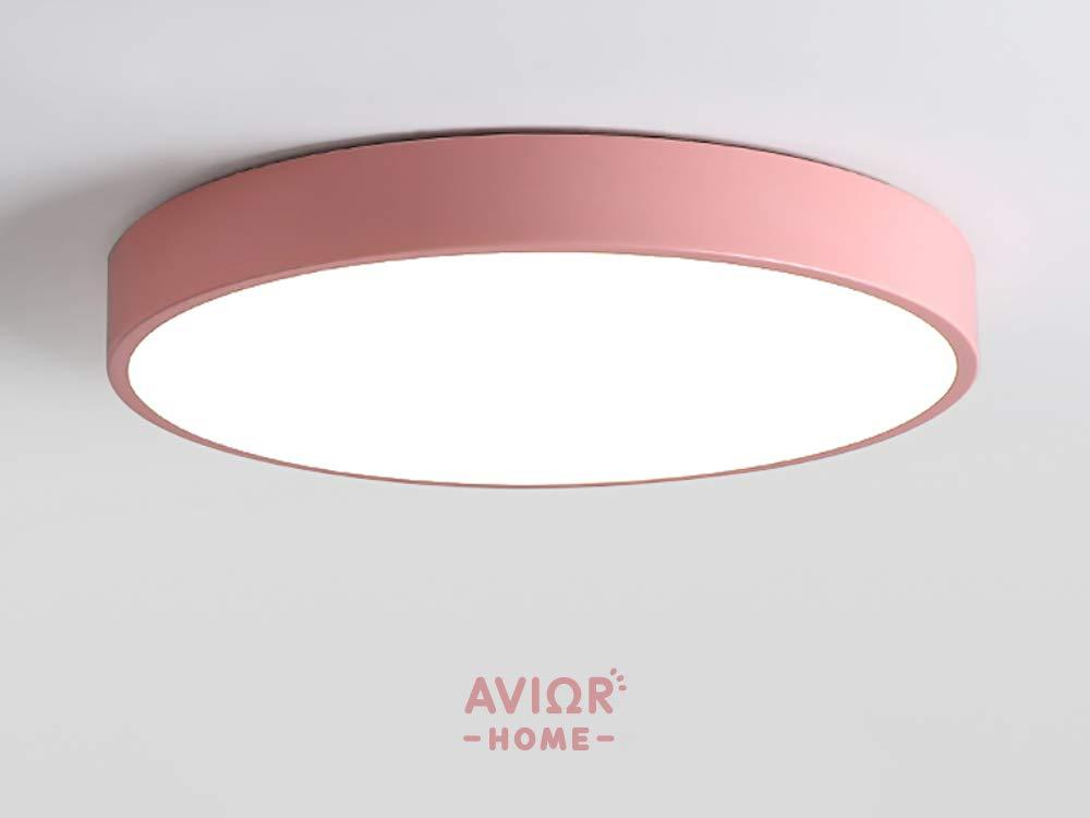 Blau /Ø50 cm f/ür Wohnzimmer Schlafzimmer Avior Home 36 W LED Deckenlampe DeckenleuchtePastell Warmlicht K/üche
