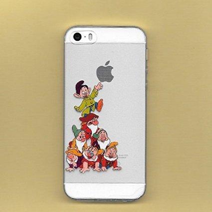 307 opinioni per Disney seven dwarfs transparente in poliuretano termoplastico per iPhone-Cover