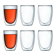 Bodum Pavina Double-Wall Insulated 12-Ounce Glasses, Set of 6