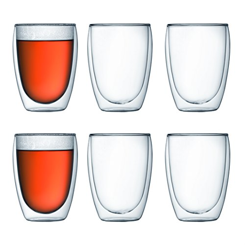 (Bodum Pavina Double-Wall Insulated 12-Ounce Glasses, Set of 6)
